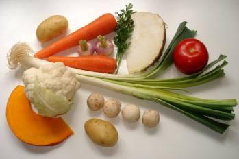 Légumes, contenant les minéraux