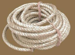 Une corde en chanvre
